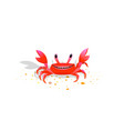 crab bacharacter friendly childlike kids comic vector image