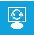 Dollar-ruble exchange monitor icon vector image vector image