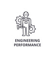 engineering performance line icon sign vector image vector image