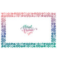 exclusive floral frame vector image vector image