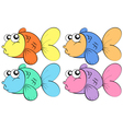 Fish in color vector image vector image