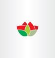 flower symbol icon element vector image vector image
