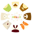 frame with cute funny inquisitive animals vector image