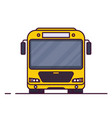 front view of city bus vector image