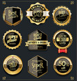 gold and black sale labels retro vintage design vector image vector image