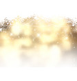 gold christmas background with snowflakes vector image vector image