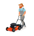 grass cutting icon vector image vector image
