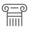 greek column line icon pillar and antique vector image