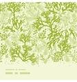 green underwater seaweed horizontal seamless vector image vector image