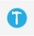 hammer icon sign symbol vector image vector image