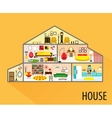 House cartoon interior vector image vector image
