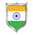 India flag button vector image vector image
