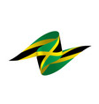 jamaica flag vector image vector image