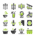 lemongrass icon set vector image vector image