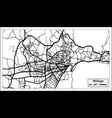 malaga spain city map in retro style outline map vector image vector image