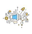 marketing technology marketing vector image
