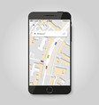 mobile gps navigation concept smartphone vector image