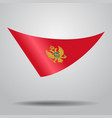 montenegrian flag background vector image vector image