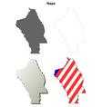 Napa County California outline map set vector image vector image