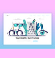 ophthalmologist doctor test eyesight landing page vector image vector image