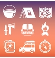 Outdoors camping pictograms collection vector image