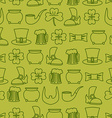 Patricks day seamless background pattern of an old vector image