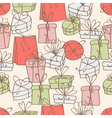 pattern of gift boxes vector image vector image