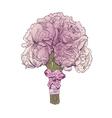 Peony wedding bouquet isolated vector image