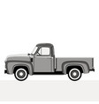pickup flat styleprofile vector image vector image