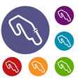 race circuit icons set vector image vector image