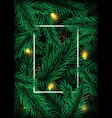 realistic christmas tree branches design vector image vector image