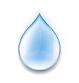 realistic water drop vector image vector image