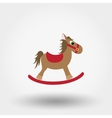 Rocking horse toy Flat icon vector image