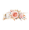 romantic stylish floral wreath garland bouquet vector image vector image