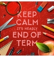 schools out end term vector image vector image