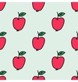 Seamless pattern with apple Hand-drawn background vector image vector image