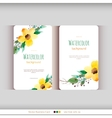 set abstract watercolor cards vector image vector image