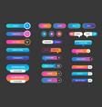 set buttons for websites mobile vector image