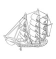 sketch of ship model vector image