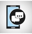 smartphone social media bubble speech vector image vector image