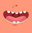 smile cartoon flat vector image