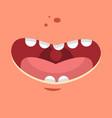 smile cartoon flat vector image vector image