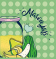 so fresh juice cartoon vector image