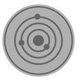 solar system silver coin vector image vector image