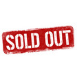 sold out sign or stamp vector image vector image