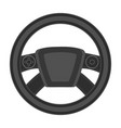 steering wheel single icon in monochrome style for vector image vector image