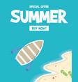 summer holiday sale morning party vector image vector image
