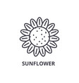 sunflower line icon outline sign linear symbol vector image