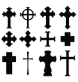types of cross vector image vector image