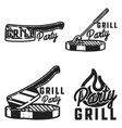 vintage grill party emblems vector image vector image